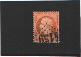 YT N°23 - Napoléon III - 40 Centimes Orange - GC 4159 - Vertaizon (Puy De Dôme) - Marcophilie (Timbres Détachés)