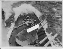 British Navy Pointe D´un Batiment Anglais Par Mer Calme Canons Marine Guerre Navale 1 Photo 14-18 1914-1918 Ww1 Wk1 - War, Military