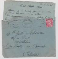 Lettre-enveloppe: Vire-caen -st Martin Des Besaces - Timbre - Cachet :  Corerspondance Deux  2 Personnes - Non Classés