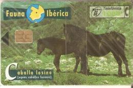 B-056 TARJETA DE ESPAÑA DEL CABALLO LOSINO (NUEVA-MINT EN BLISTER) HORSE (FAUNA IBERICA) - Basisuitgaven