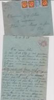 Lettre-enveloppe: Vire-caen -st Martin Des Besaces - Timbre - Cachet :  Corerspondance Deux  2 Personnes - France