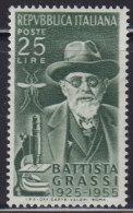 1228(6). Italy, 1955, Physician And Zoologist Giovanni Battista Grassi, MNH (**) Michel 952 - 1946-60: Nuovi