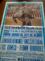 TOROS - Cartel Antiguo Plaza Corrida De Toros En LORCA 1990 - Mide 70 X 47 Cm - Afiches