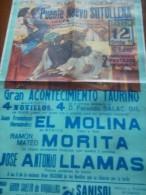 TOROS - Cartel Antiguo Plaza Corrida De Toros En LORCA 1991 - Mide 67 X 47 Cm - Afiches