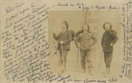 71 ANOST Marcheurs Randonneurs Société A.M. Anost 1907  Cp Photo     2 Scans - Francia