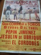 TOROS - Cartel Antiguo Plaza Corrida De Toros En LORCA 1994 - Mide 70 X 50 Cm - Afiches
