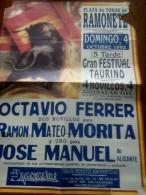 TOROS - Cartel Antiguo Plaza Corrida De Toros En RAMONETE 1994 - Mide 68 X 49 Cm - Afiches