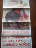 TOROS - Cartel Antiguo Plaza Corrida De Toros En LORCA 1991 - Mide 73 X 35 Cm - Afiches