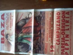 TOROS - Cartel Antiguo Plaza Corrida De Toros En BAZA 1993 - Mide 64 X 36 Cm - Afiches
