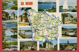 Carte Contour Géographique Du Département De La NIEVRE - Non Classés