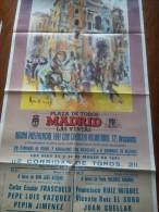 TOROS - Cartel Antiguo Plaza Corrida De Toros En MADRID 1991 - Mide 83 X 42 Cm - Afiches