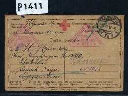 RUSSIE- CROIX ROUGE  CARTE AVEC REPONSE D UN PRISONNIER DE GUERRE   + CENSURE DE VIENNE  1917   A ETUDIER - Covers & Documents