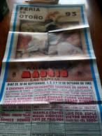 TOROS - Cartel Antiguo Plaza Corrida De Toros En MADRID 1993 - Mide 89 X 46 Cm - Afiches