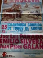 TOROS - Cartel Antiguo Plaza Corrida De Toros En HUELVA 1990 - Mide 64 X 44 Cm - Afiches