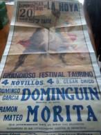 TOROS - Cartel Antiguo Plaza Corrida De Toros En LA HOYA 1993 - Mide 106 X 54 Cm - Afiches
