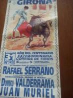 TOROS - Cartelito Antiguo Plaza Corrida De Toros En GIRONA 1997 - Mide 35 X 17 Cm - Afiches