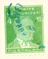 TURKEY  -  1931 To 1954  Kemal Attaturk Definitive  4k  Used As Scan - 1921-... Republic