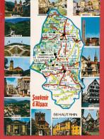 Carte Contour Géographique Du Département Du HAUT-RHIN - Frankreich