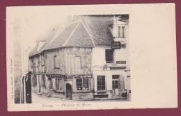 58 - 050215 -DONZY - MAISON DE BOIS - VINS SPIRITUEUX A BERTRAND épicerie Mercerie - France