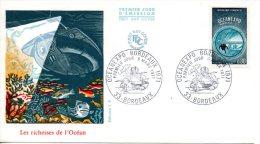 FRANCE. N°1666 De 1971 Sur Enveloppe 1er Jour. OCANEXPO´71/Plongée Sous-marine. - Sous-marins