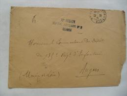 Rennes Hopital Auxiliaire 2 10 Eme Region Franchise Postale Militaire Guerre 14.18 - Guerra Del 1914-18