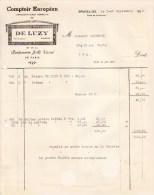 Comptoir Européen DE LUZY 1921 Place De La Bourse à Bruxelles Parfumerie Varrel De Paris - Droguerie & Parfumerie