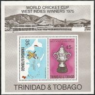 Trinidad & Tobago,  Scott 2015 # 261a,  Issued 1976,  S/S Of 2,  MNH,  Cat $ 2.50,   Cricket - Trinidad & Tobago (1962-...)