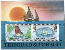 Trinidad & Tobago,  Scott 2015 # 246a,  Issued 1974,  S/S Of 3,  MNH,  Cat $ 3.50,  Ships - Trinidad & Tobago (1962-...)