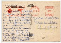 1975 - CP De BRIANCON SAINTE CATHERINE (HAUTES ALPES) Avec EMA SKI / HOTEL MODERNE - Marcophilie (Lettres)