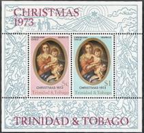 Trinidad & Tobago,  Scott 2015 # 242a,  Issued 1973,  S/S Of 2,  MNH,  Cat $ 1.10,  Christmas - Trinidad & Tobago (1962-...)