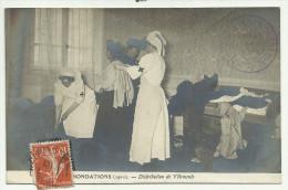 PARIS-INONDATIONS 1910-DISTRIBUTION DE VETEMENTS-CACHET DE L'UNION DES FEMMES DE FRANCE-GROUPE DU XVIème ARRONDISSEMENT - Alluvioni Del 1910
