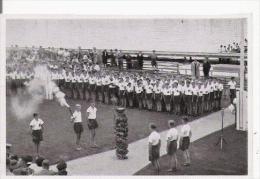 JEUX OLYMPIQUES DE BERLIN 1936 IMAGE JEUNES ALLEMANDS AVEC LA FLAMME - Vieux Papiers