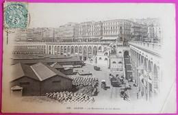 Cpa Alger Le Boulevard Et Les Quais Carte Postale Algérie - Alger