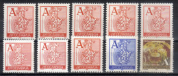 "Yugoslavia,Definitive ""A"" 1993/1996/1997/1999/2000/ 2002.,complete Edition-all Variants,MNH - 1992-2003 Federal Republic Of Yugoslavia"