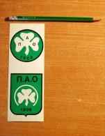 Vintage 70's Foot 2 Panathinaikos PAO Sticker Decal - Non Classificati
