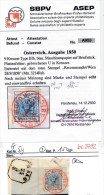 Österreich Nr. 5yI Roter Stempel  -Attest (bc 3792 ) Siehe Scan ! - Usati