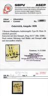 Österreich Nr.1xd Platte 3b   O -Attest (bc 3795 ) Siehe Scan ! - Usati