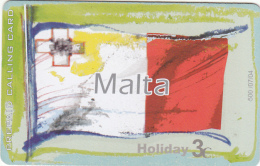 GREECE - Flag/Malta, Amimex Prepaid Card 3 Euro, Tirage 500, 07/04, Used - Grèce