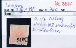 Lomb.+Venetien Nr 3  III  .....bitte Die Beschreibung Auf Der Schweizer Händler Loskarte Beachten !! (bc 3814 ) - Oriente Austriaco