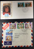 Kuwait 2 Covers, 1979 IYC FDC And 1977 Commercial Cover To The Netherlands With Popular Games Stamps.. - Koweït
