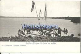 2053 BOLIVIA COSTUMES BOAT PIRAGUAS TRIPULADAS POR NEOFITOS POSTAL POSTCARD - Bolivie