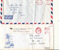2 ENVELOPPES PAR AVION ST PIERRE ET MIQUELON  / COGNAC - Lettres & Documents