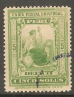 PERU    Scott  # J 34 VF USED - Peru