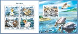 mld14910ab Maldives 2014 Pelicans Fish 2 s/s