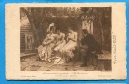 OV884, Conversation Galante, Trois Demoiselles, Homme, B.Giuliano, Circulée 1907 - Phantasie