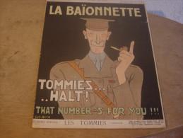 LA BAIONNETTE - TOMMIES ...HALT - 1900 - 1949
