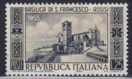 1228(12). Italy, 1955, Basilica Of San Francesco D'Assisi, MNH (**) Michel 947 - 1946-60: Nuovi