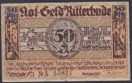Ritterhude (1126.1) 50 Pfennig (1921) VF - [11] Local Banknote Issues