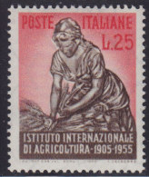 1228(13). Italy, 1955, 50 Years Of Agricultural Institute, MNH (**) Michel 949 - 6. 1946-.. Republic