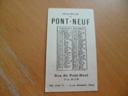 Chromo Calendrier Publicitaire Maison Du Pont Neuf Paris.Nos Orateurs. Enfants Mois De Novembre Et Décembre - Klein Formaat: ...-1900